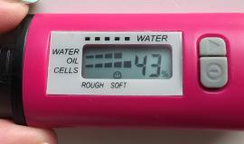 水分チェッカー 1ヶ月後 43%
