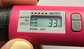 水分チェッカー 開始前 33%