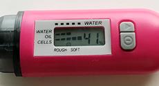 体験3週間目の水分チェッカー